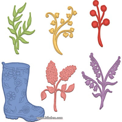 Heartfelt Creations - Rain Boots and Blossoms dies