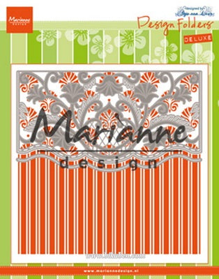 Marianne Design - Anjas Ornamental border die + Embossingfolder
