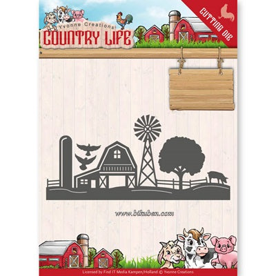 Yvonne Creations - Country Life - Border Dies