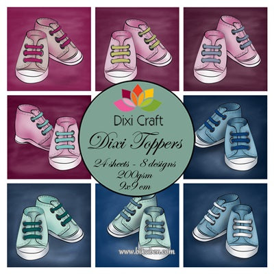 Dixi Craft - Toppers - Baby Shoes   (9cm x 9cm)