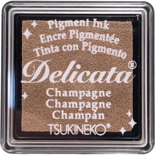 Delicata - Small Ink - Champagne Gold  Shimmer