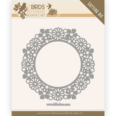 Jeanine Art - Birds an d Flowers - Dies - Flower Circle