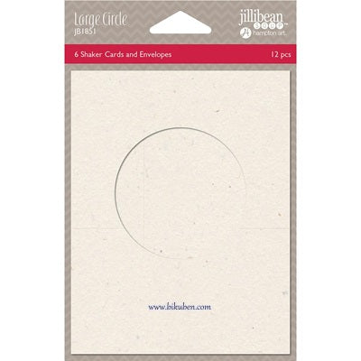Jillibean Soup - Shaker Cards & Envelopes - Large Circle
