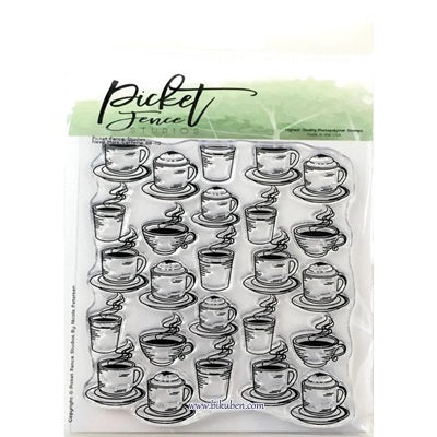 Picket Fence - Clear Stamp - Need More Caffeine