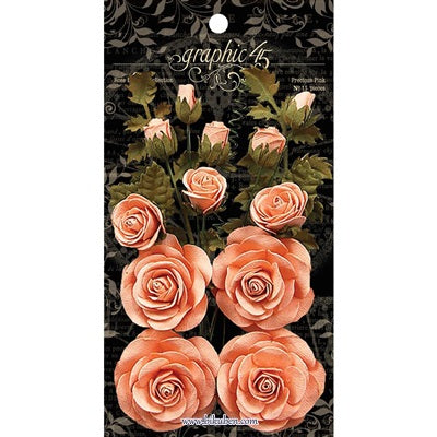 Graphic45: Staples - Paper Roses - Pink