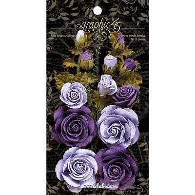 Graphic45: Staples - Paper Roses - Lilac/Purple
