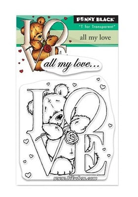 Penny Black - Mini Clear Stamps - All my love