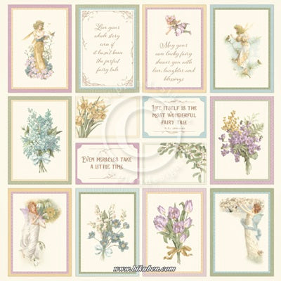 Pion Design - Images from the Past - Four Seasons of Fairies  1 -   12 x 12""