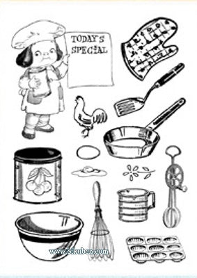 Crafty Secrets: Clear Stamps Small - Little Chef