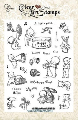 Crafty Secrets: Clear Stamps - Large - Kewpies