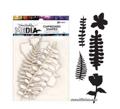 Dina Wakley Media - Chipboard Shapes - Botanicals