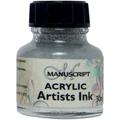 Manuscript - Acrylic Artists Ink - Metallic Silver