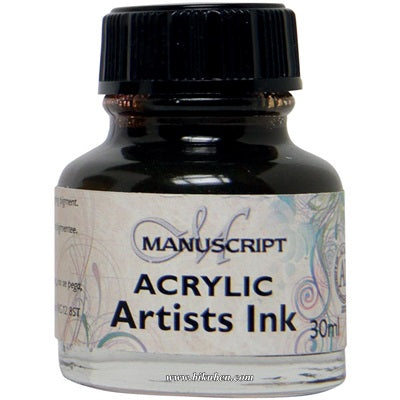 Manuscript - Acrylic Artists Ink - Sepia