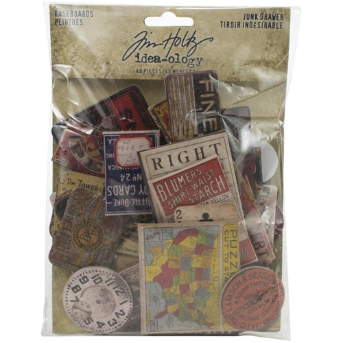 Tim Holtz - Ideaology - Chipboard Baseboard - Junkdrawer