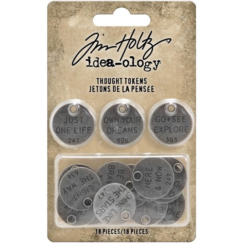Tim Holtz - Ideaology - Tokens - Thougt