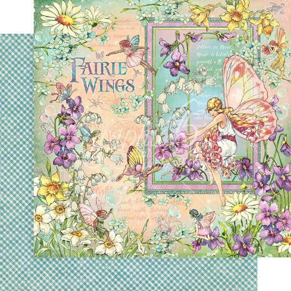 Graphic 45 - Fairie Wings Collection - Fairie Wings  - 12 x 12""