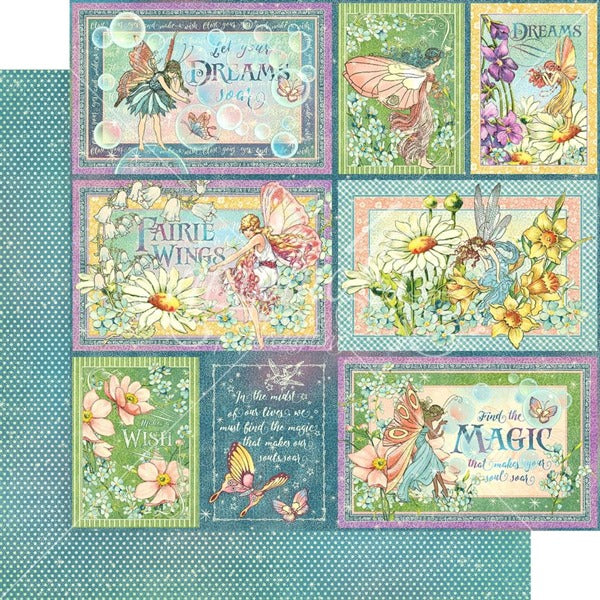 Graphic 45 - Fairie Wings Collection - Rainbow Sparkle - 12 x 12""