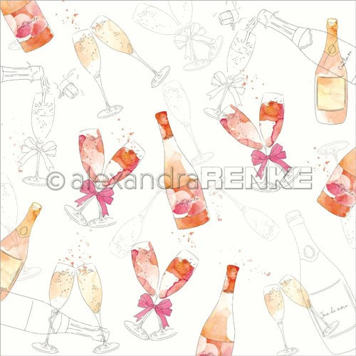 Alexandra Renke - Cocktails Collection - Sparkeling Wine  -  12 x 12""