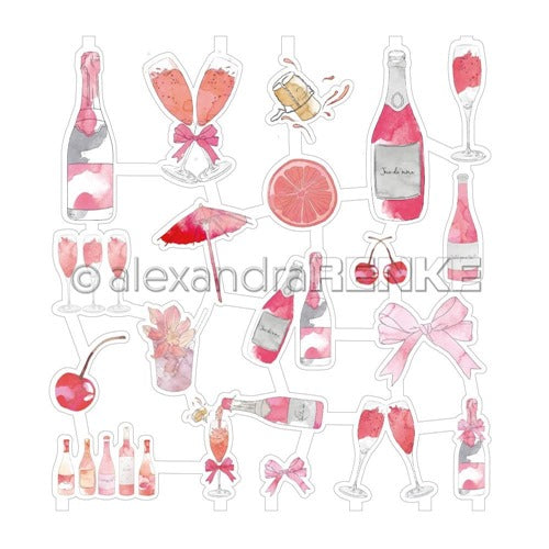 Alexandra Renke - Cocktails Collection - Die Cuts - Pink Cocktails