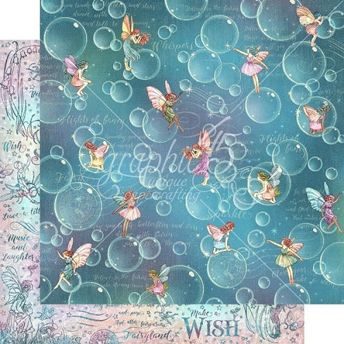 Graphic 45 - Fairie Wings Collection - Bubbles - 12 x 12""