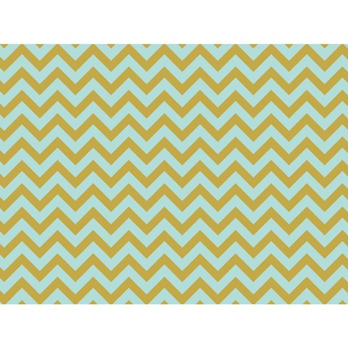 Kaisercraft - D-ring Album - Chevron Mint   12 x 12""