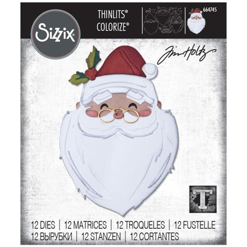 Sizzix - Tim Holtz Alterations - Thinlits - Santa's wish