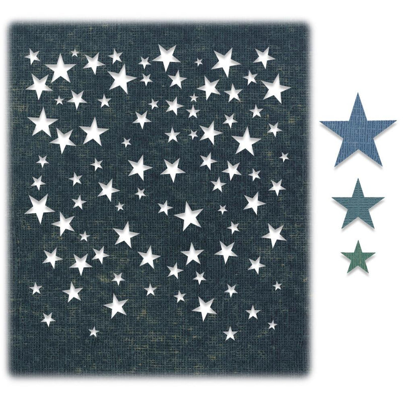 Sizzix - Tim Holtz Alterations - Thinlits - Falling Stars