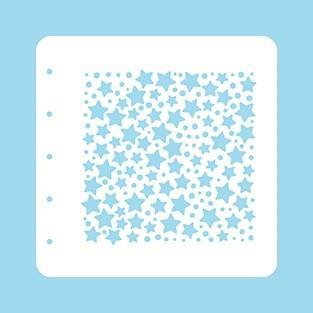 Nellie Snellen - Stencil  A6 - Stars and Dots