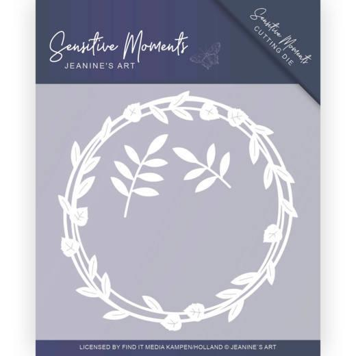 Jeanine Art - Dies - Sensitive Moments - Leaf Circle