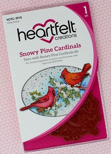 Heartfelt Creations - Cling Stamps - Snowy Pine Cardinals