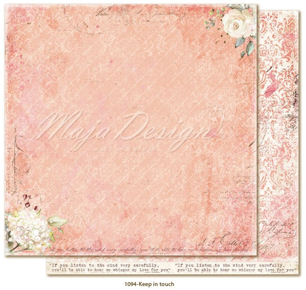 Maja Design - Miles Apart - Keep in touch -   12 x 12""