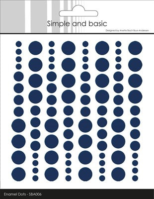 Simple and Basics - Enamel Dots - Dark Blue