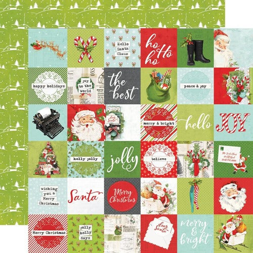 "Simple Stories - Simple Vintage North Pole - 2x2"" Elements - 12 x 12"""
