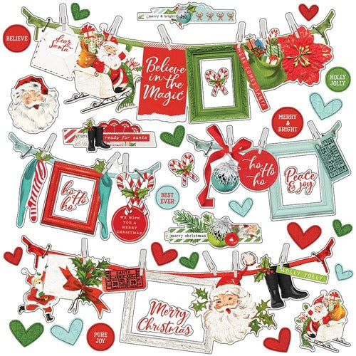 Simple Stories - Simple Vintage North Pole - Banner Cardstock Stickers  12 x 12""