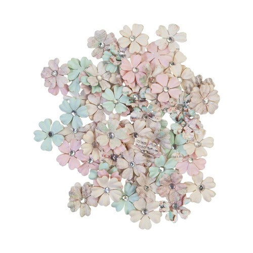 Prima - Sugar Cookie - Mulberry Paper Flower - White Christmas