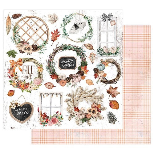 Prima - Pumpkin and Spice - Sweather Weather - 12 x 12""