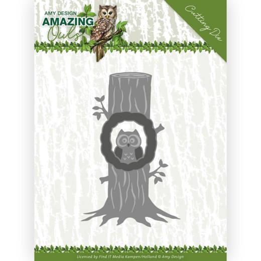 Amy Design - Dies - Amazing Owls - Owl in the tree
