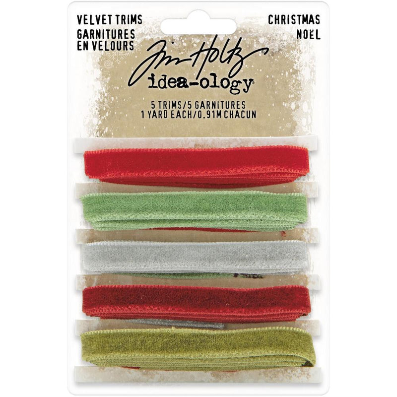 Tim Holtz - Ideaology - Christmas 2020 -  Velvet Trims