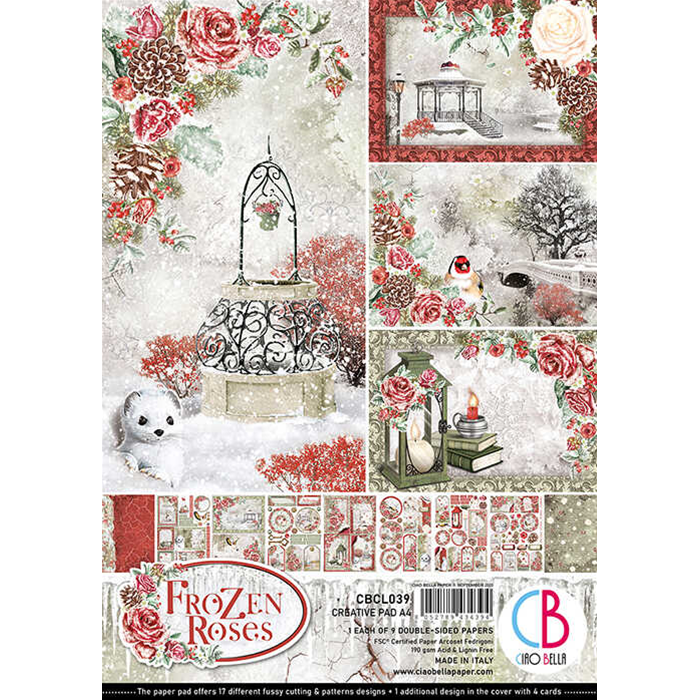 Ciao Bella - Frozen Roses - Paper Pack   (9 ark) A4