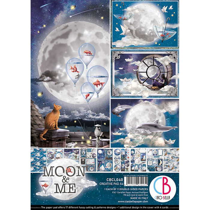 Ciao Bella - Moon & Me - Paper Pack   (9 ark) A4
