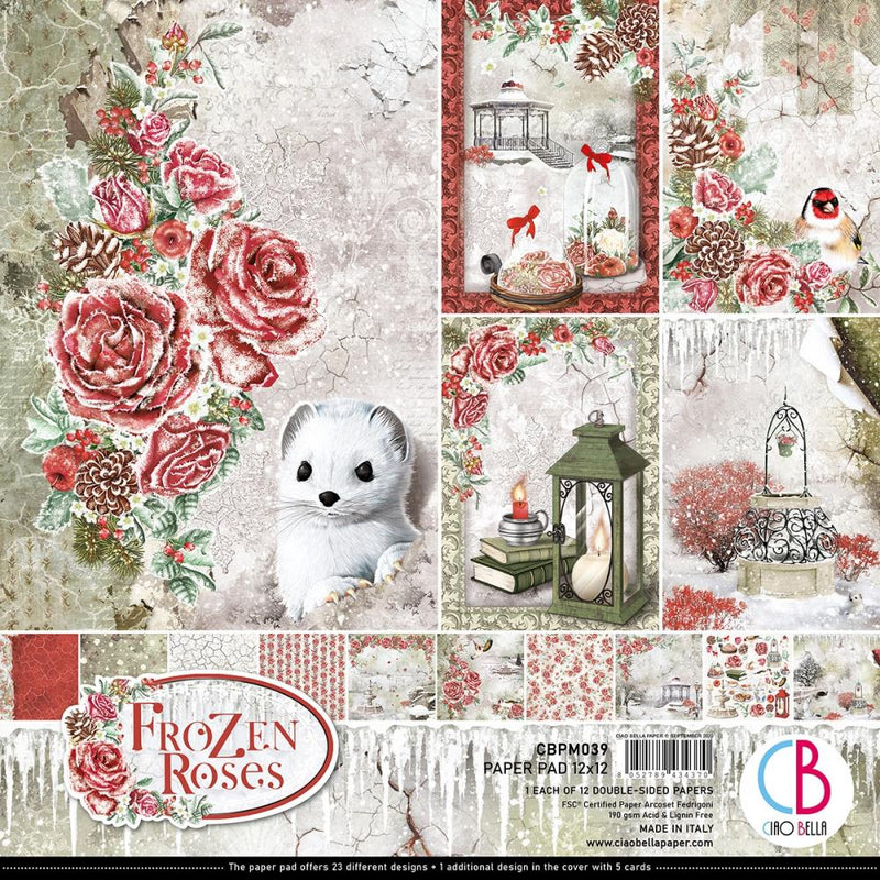 Ciao Bella - Frozen Roses - Paper Pack   (12 ark) 12 x 12""