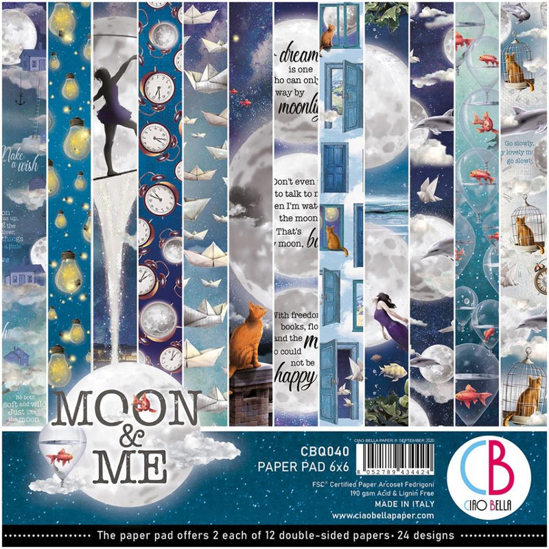 Ciao Bella - Moon & Me - Paper Pack   (24 ark) 6 x 6""