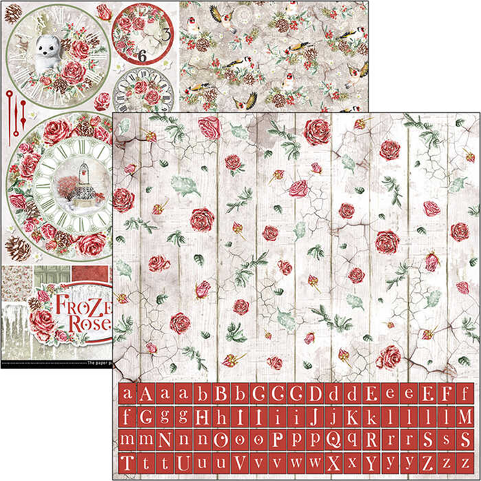 Ciao Bella - Frozen Roses - Paper Pack   (8 ark) 12 x 12""