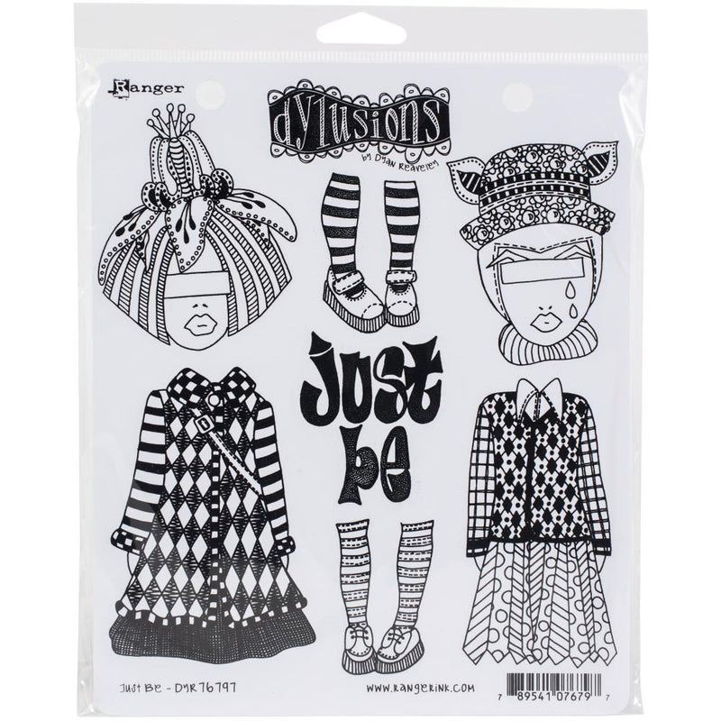 Dylusions - Cling Stamps - Just be