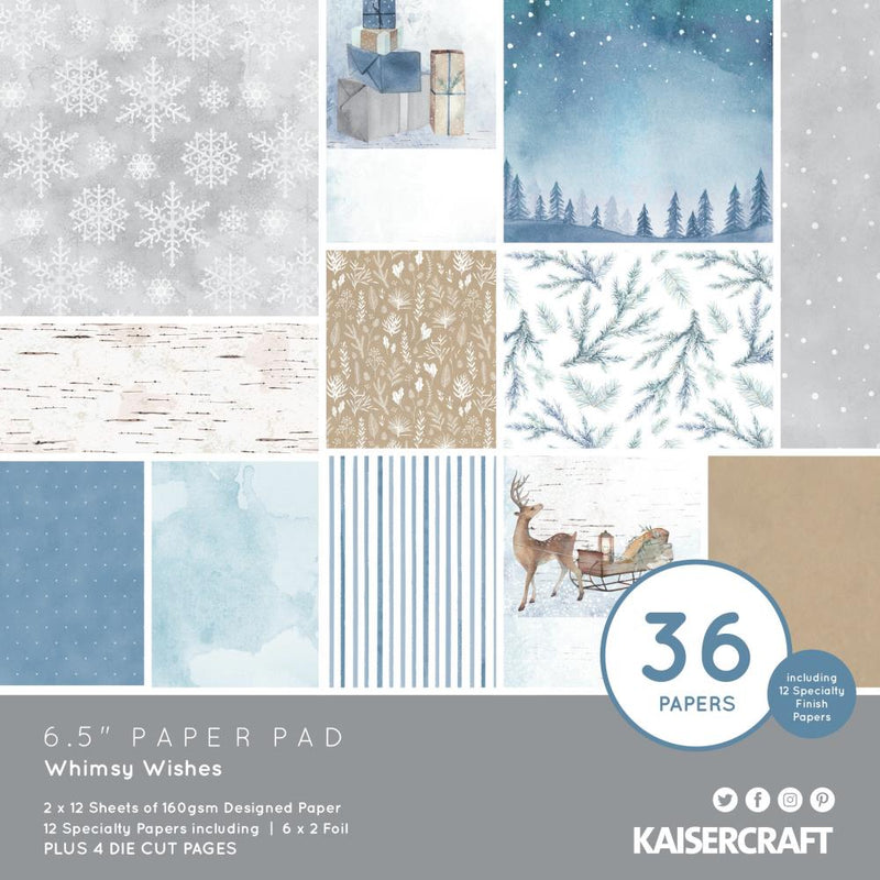 "KaiserCraft - Whimsy Wishes - 6,5 x 6,5"" Paper Pad"