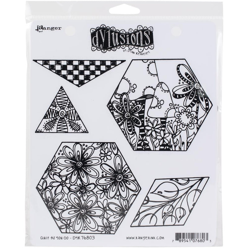 Dylusions - Cling Stamps - Quilt as you go