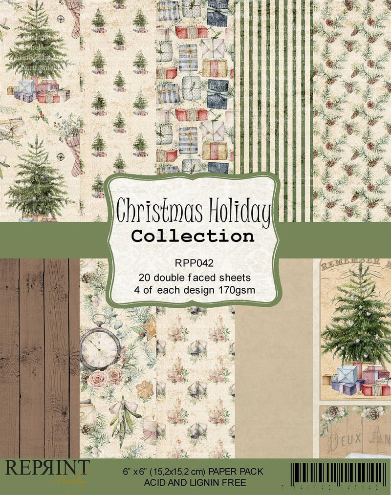 Reprint - Christmas Holiday Collection - Paper Pack   6 x 6""