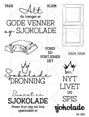 Kort & Godt - Clearstamps Medium plate - M-460