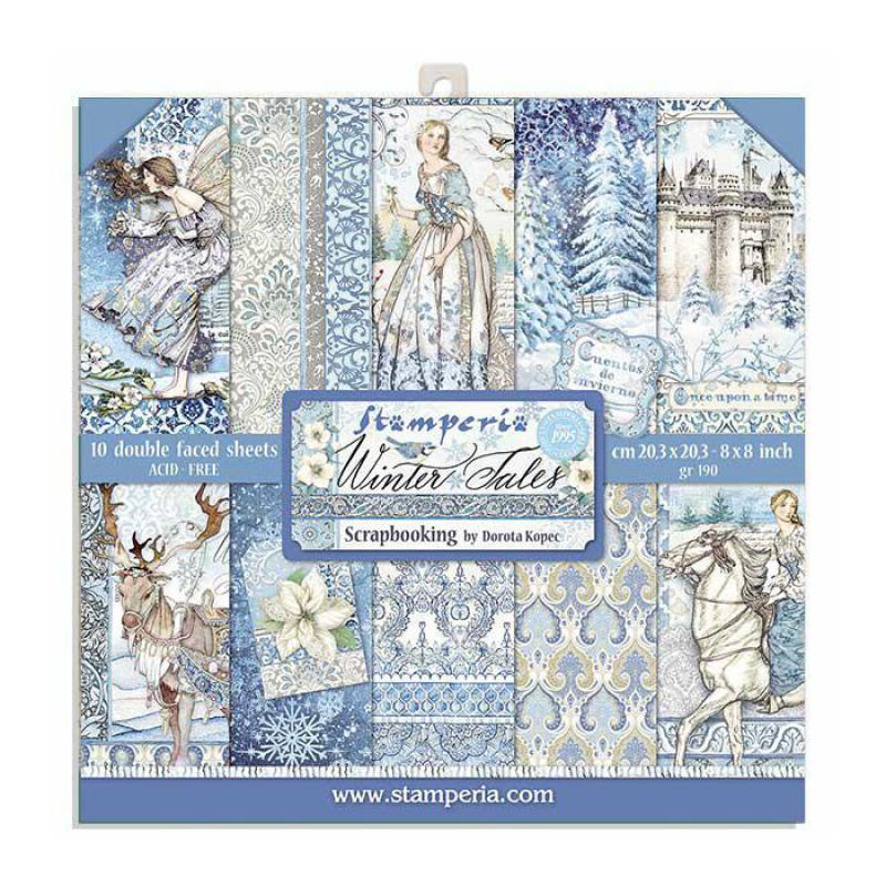 Stamperia - Winter Tales - Paper Pad - 8 x 8""