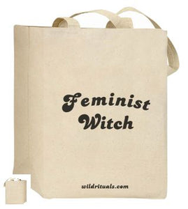 Feminist Witch Canvas Tote